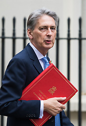 Downing Street, London, November 3rd 2015.  Foreign Secretary Philip Hammond arrives at 10 Downing Street to attend the weekly cabinet meeting. /// Licencing: Paul@pauldaveycreative.co.uk Tel:07966016296 or 020 8969 6875