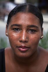 Portrait of black Cuban woman,
