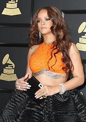 February 12, 2017 - Los Angeles, CA, United States - 12 February 2017 - Los Angeles, California - Rihanna. 59th Annual GRAMMY Awards held at the Staples Center. Photo Credit: AdMedia (Credit Image: © AdMedia via ZUMA Wire)