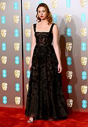 Freya Mavor attending the 72nd British Academy Film Awards held at the Royal Albert Hall, Kensington Gore, Kensington, London.