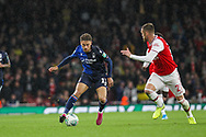 Matty Cash of Nottingham Forest during the EFL Cup match between Arsenal and Nottingham Forest at the Emirates Stadium, London, England on 24 September 2019.