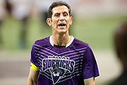 Nick Stavrou (23) of the Dallas Sidekicks has words with teammate Sagu (1) against the Rockford Rampage at the Allen Event Center on Saturday, February 9, 2013 in Little Elm, Texas. (Cooper Neill/The Dallas Morning News)