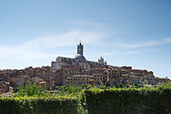 Siena - the impressive Duomo cathedral standing atop a hill