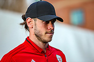 Wales midfielder Gareth Bale arrives ahead of the Friendly European Championship warm up match between Wales and Trinidad and Tobago at the Racecourse Ground, Wrexham, United Kingdom on 20 March 2019.