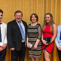 Eoin McInerney with Donal, Alice, Rachel and Daniel Moloney at the Clare Limousin Breeders 18th Annual Dinner Dance