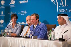 Schroder Gerco (NED), Omar Al Mannai, Leopoldo Palacios, Christa Heibach<br /> CHI Al Shaqab - Doha 2013<br /> © Dirk Caremans