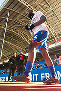 Crystal Palace #24 Timothy Fosu-Mensah   wearing t shirt showing support to Selhurst Park redevelopment  during the Premier League match between Crystal Palace and Tottenham Hotspur at Selhurst Park, London, England on 25 February 2018. Picture by Sebastian Frej.