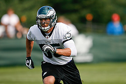 Philadelphia Eagles linebacker Stewart Bradley #55 during the Philadelphia Eagles NFL training camp in Bethlehem, Pennsylvania at Lehigh University on Saturday August 1st 2009. (Photo by Brian Garfinkel)
