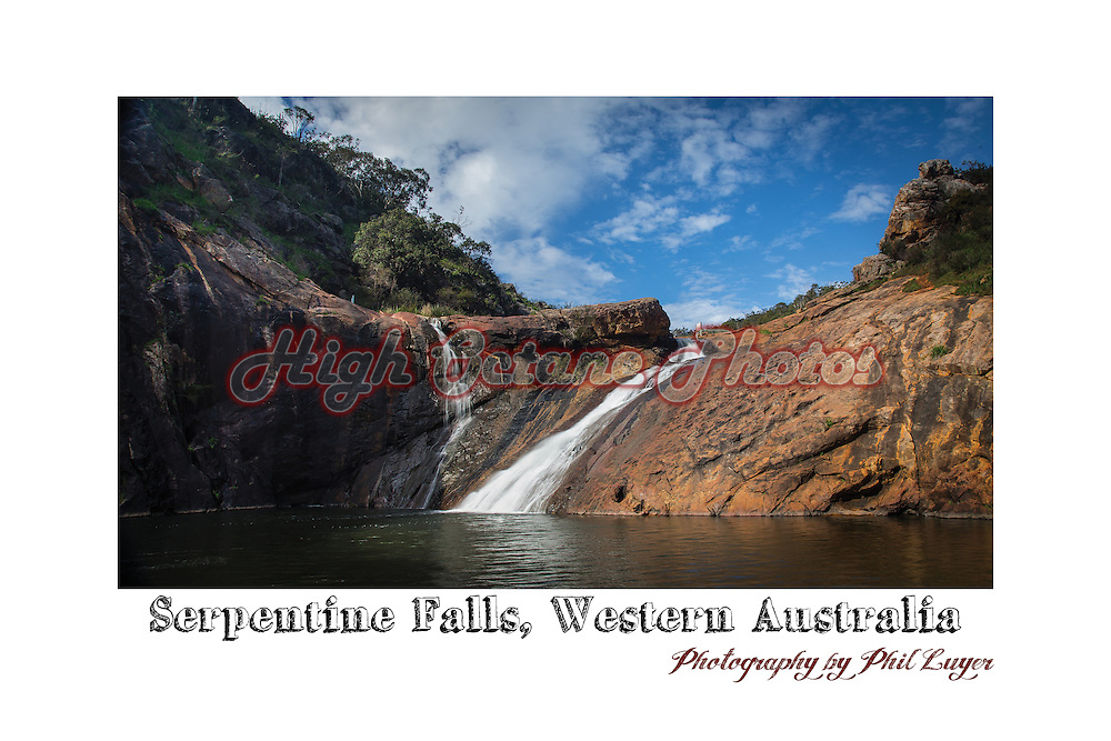 Serpentine Falls in flow. The Serpentine Falls are south west of Perth, in Western Australia.