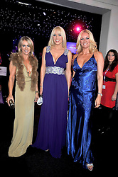 Left to right, KAREN MILLEN, EMMA NOBLE and SARAH BOSNICH at The Butterfly Ball in aid of the Caudwell Children Charity held in Battersea park, London on 14th May 2009.