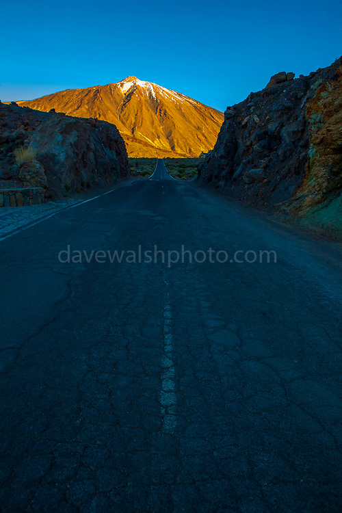 """TF21 road towards the peak of Teide National Park, Parque nacional del Teide. The volcanic Mount Teide, or Pico del Teide, Tenerife, Canary Islands - at 3,718 high, it's the third highest volcano in the world after Hawaii, rising 7,500m from the ocean floor. This mage can be licensed via Millennium Images. Contact me for more details, or email mail@milim.com For prints, contact me, or click """"add to cart"""" to some standard print options."""