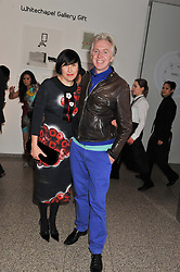 PHILIP TREACY and ALICE RAWSTHORN at the Swarovski Whitechapel Gallery Art Plus Fashion fundraising gala in support of the gallery's education fund held at The Whitechapel Gallery, 77-82 Whitechapel High Street, London E1 on 14th March 2013