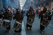 Correfoq (Fire Run) - the finale of the Festival of La Mercè, Barrio Gotico of Barcelona