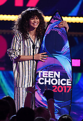 """LOS ANGELES - AUGUST 13: Zendaya accepts the Choice Summer Movie Actress award for """"Spider-Man: Homecoming' onstage at FOX's 'Teen Choice 2017' at the Galen Center on August 13, 2017 in Los Angeles, California. (Photo by Frank Micelotta/FOX/PictureGroup) *** Please Use Credit from Credit Field ***"""