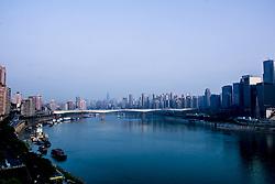 April 27, 2018 - Chongqin, Chongqin, China - Chonging, CHINA-27th April 2018: The Qiansimen Bridge across Jialing River in southwest China's Chongqing. (Credit Image: © SIPA Asia via ZUMA Wire)