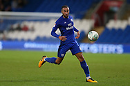 Jazz Richards of Cardiff city in action. Carabao Cup, 1st round match, Cardiff city v Portsmouth at the Cardiff city Stadium in Cardiff, South Wales on Tuesday August 8th 2017.<br /> pic by Andrew Orchard, Andrew Orchard sports photography.