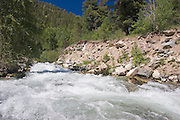 Rio Hondo flowing from Taos Ski Valley, Taos County, New Mexico
