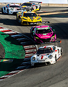 October 30-Nov 1, 2020. IMSA Weathertech Raceway Laguna Seca: #912 Porsche GT Team Porsche 911 RSR, GTLM: Earl Bamber, Laurens Vanthoor, #86 Meyer Shank Racing w/Curb-Agajanian, Acura NSX GT3, GTD: Mario Farnbacher, Matt McMurry, #3 Corvette Racing Corvette C8.R, GTLM: Antonio Garcia, Jordan Taylor, #911 Porsche GT Team Porsche 911 RSR, GTLM: Nick Tandy, Fred Makowiecki, #4 Corvette Racing Corvette C8.R, GTLM: Oliver Gavin, Tommy Milner