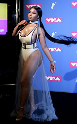 August 20, 2018 - New York City, New York, U.S. - Hip hop artist NICKI MINAJ  poses for photos in the press room for the 2018 MTV 'VMAS' held at Radio City Music Hall. (Credit Image: © Nancy Kaszerman via ZUMA Wire)