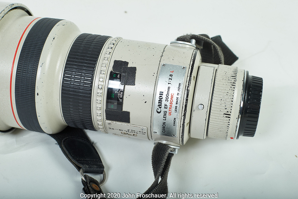 Canon EF 300 2.8 USM L, Thursday, May 14, 2020, in Tacoma. (AP Photo/John Froschauer)