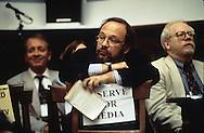 Reporter Joe Kline at a hearing in 1996..Photograph by Dennis Brack bb30