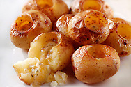 roast new potatoes with herby butter food photos