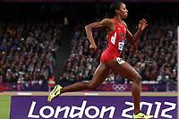 LONDON OLYMPIC GAMES 2012 - OLYMPIC STADIUM , LONDON (ENG) - 06/08/2012 - PHOTO : EDDY LEMAISTRE / KMSP / DPPI<br /> ATHLETICS - WOMEN 400 M HURDLES -  SEMI FINAL - LASHINDA DEMUS (USA)