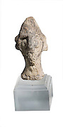 A Syro-Hittite terra-cotta figurine head 2nd millennium BC 7.1 cm high