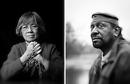 LEFT: Sr. Francine Costello of the Sisters of St. Joseph of Carondelet in Frontenac, Missouri<br /> RIGHT: Civil rights activist Percy Green II in St. Louis, Missouri