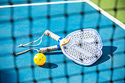 Outdoor Pickleball Court and Equipment