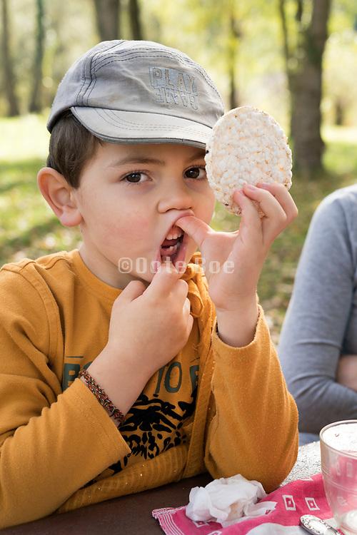boy showing his lost milk teeth