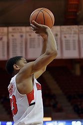 09 December 2017:  William Tinsley for 3 points during a College mens basketball game between the Murray State Racers and Illinois State Redbirds in  Redbird Arena, Normal IL