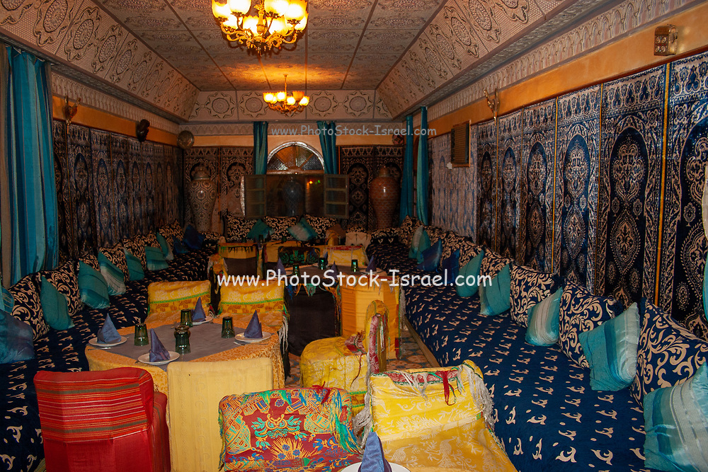 Interior of a Restaurant in rural Morocco