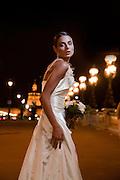 Bride by night in Paris
