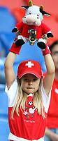 GEPA-1106086007 - BASEL,SCHWEIZ,11.JUN.08 - FUSSBALL - UEFA Europameisterschaft, EURO 2008, Schweiz vs Tuerkei, SUI vs TUR, Vorberichte. Bild zeigt einen Fan der Schweiz.<br />Foto: GEPA pictures/ Philipp Schalber