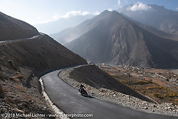 Scotty Busch heading up to 12,000' at the end of day-5  of our Himalayan Heroes adventure riding from Kalopani through the Mustang District to Muktinath, Nepal. Saturday, November 10, 2018. Photography ©2018 Michael Lichter.