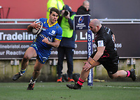 Rugby Union - 2020 / 2021 Heineken Cup - Pool 2 - Bristol Bears vs ASM Clermont Auvergne - Ashton Gate<br /> <br /> Damian Penaud of Clermont Auvergne runs over for his 2nd half try<br /> <br /> COLORSPORT/ANDREW COWIE