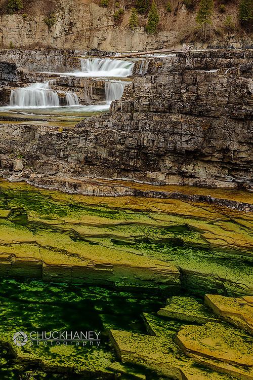 Kootenai Falls in the Kootenai National Forest near Troy, Montana, USA