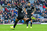 Barnsley forward Mamadou Thiam (26) takes a freekick during the The FA Cup 3rd round match between Burnley and Barnsley at Turf Moor, Burnley, England on 5 January 2019.