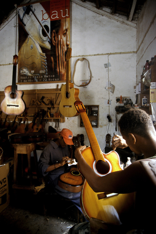 At Bau's workshop many guitars used to play worldwide famous capeverdian music are made. Bau himself is a virtuous guitar player and composer.