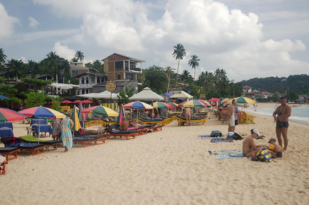 People on the Jungle beach, Unawatuna, Sri Lanka
