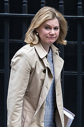 © Licensed to London News Pictures . 29/03/2017 . London , UK . JUSTINE GREENING arrives . Ministers arriving and leaving for a Cabinet meeting and Prime Minster's Questions , at 10 Downing Street , Westminster . Today (29th March 2017) the British Government will trigger Article 50 of the Lisbon Treaty and commence Britain's withdrawal from the European Union . Photo credit : Joel Goodman/LNP