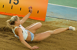 Snezana Rodic of Slovenia competes during the women's triple jump final at the 2010 European Athletics Championships at the Olympic Stadium in Barcelona on July 31, 2010.(Photo by Vid Ponikvar / Sportida)