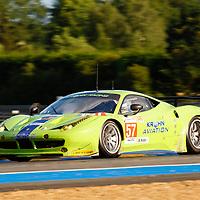 #57 Ferrari F458, Krohn Racing, Drivers: Krohn/Jönsson/Rugolo, Le Mans 24H, 16 June 2012