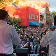 The Braodcast wows the crowd with their performance at Asheville After 5.