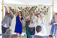 """Goshen, New York - Actors perform in """"The Merry Wives of Windsor' outdoors at Salesian Park in Goshen on July 20, 2013. The Shakespeare in Salesian Park play was presented by Cornerstone Arts Alliance  and sponsored by the Goshen Public Library & Historical Society."""