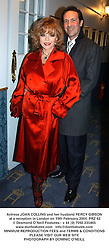 Actress JOAN COLLINS and her husband PERCY GIBSON at a reception in London on 19th February 2004.PRZ 62