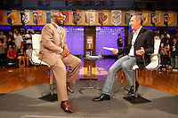 ESPN_Homecoming<br />  Donovan McNabb being interview by Rick Riley.  <br /> <br /> Shot for ESPN