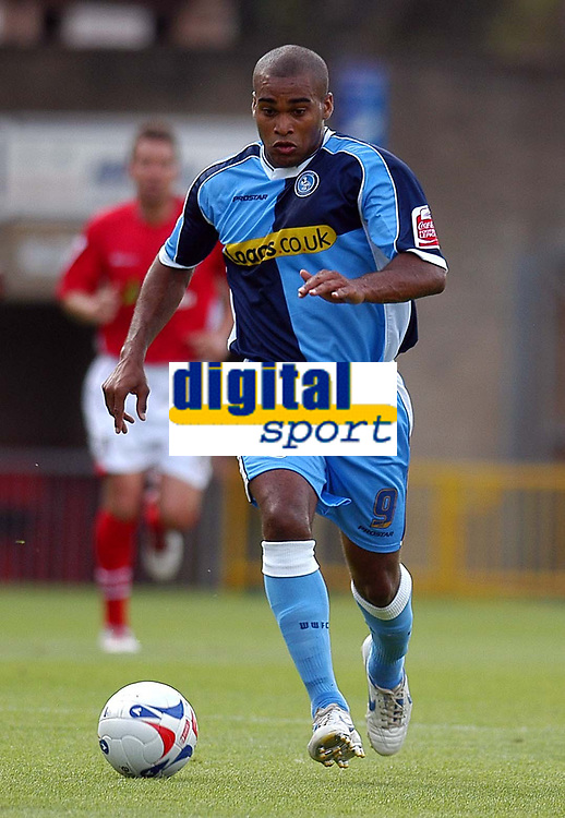 Photo: Alan Crowhurst.<br />Wycombe Wanderers v Wrexham. Coca Cola League 2.<br />05/08/2006. Wycombe's Jermaine Easter.