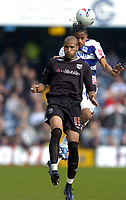 Photo: Olly Greenwood.<br />Queens Park Rangers v West Bromwich Albion. Coca Cola Championship. 31/03/2007. West Brom's Diomansy Kamara and QPR's Michael Mancienne